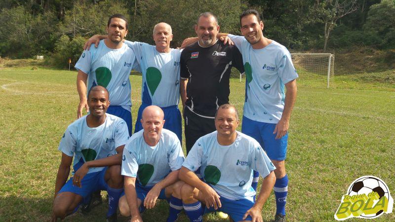 Equipe de futebol sete master da Cesama nos Jogos Sesi Fase Municipal de Juiz de Fora