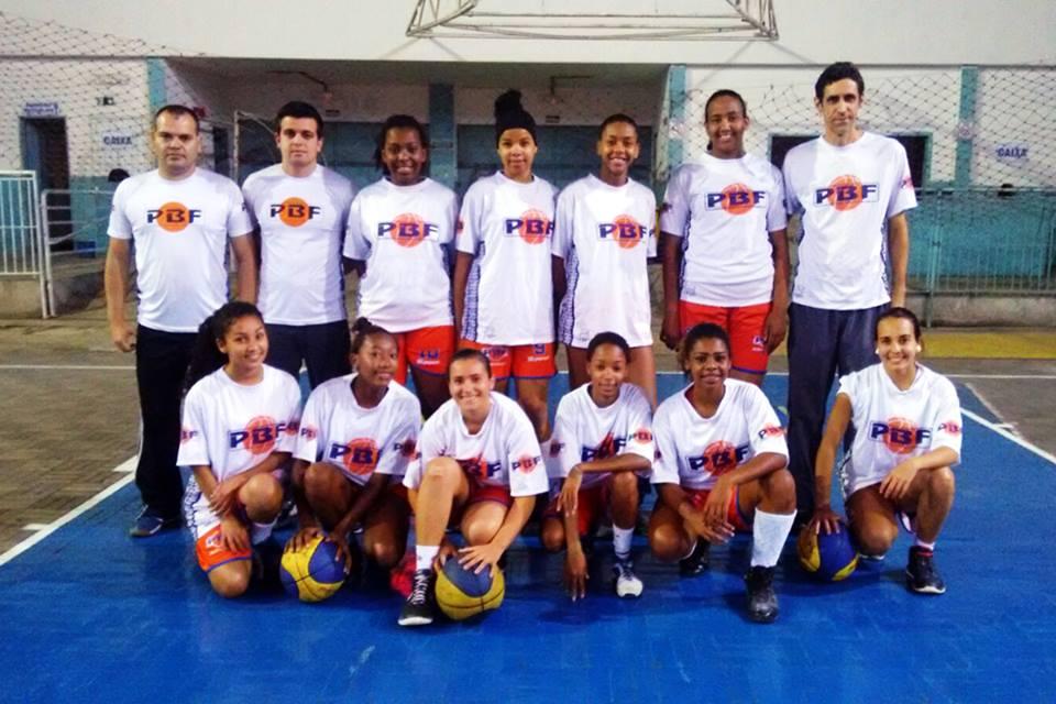 Equipe do PBF/Olímpico que disputou o primeiro circuito do Estadual Sub-17