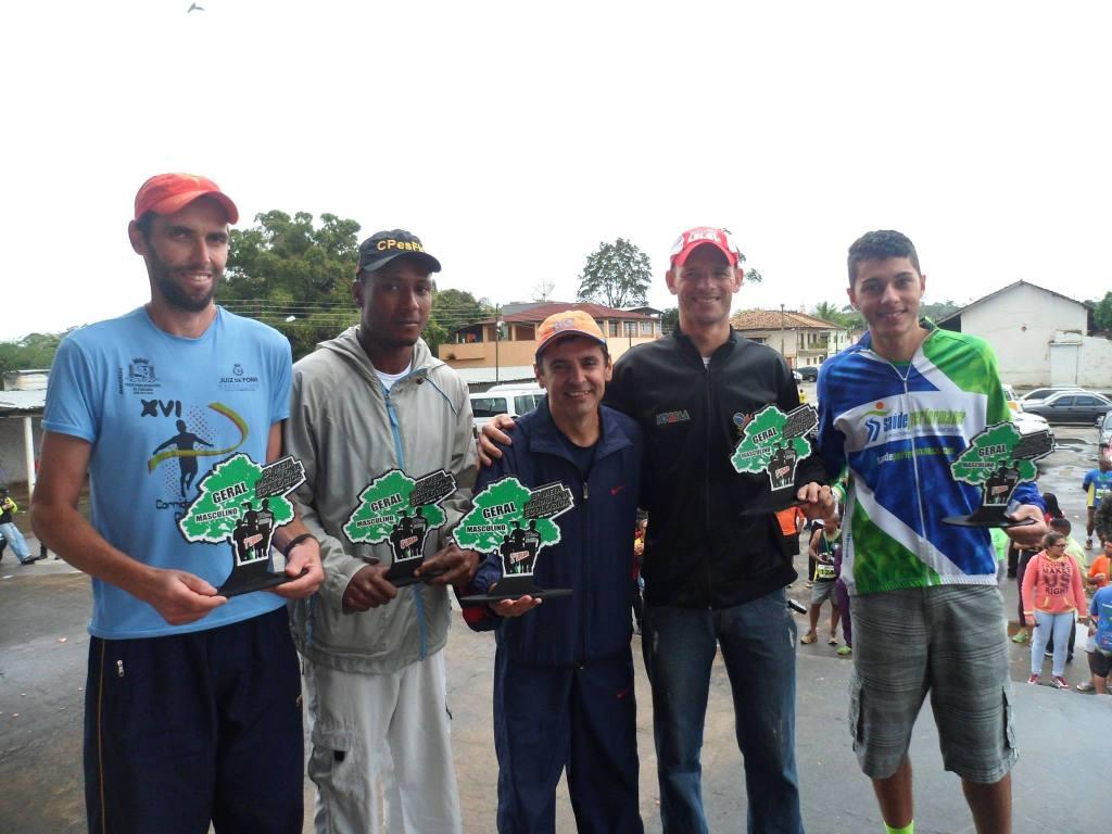 Os cinco primeiros colocados no masculino
