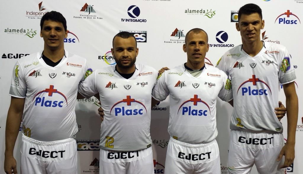 Da esquerda para a direita: Igor, André Santos, Renato Hermely e Leandrão (Foto: assessoria)