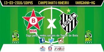 """Contra crise, Tupi visita Boa Esporte e Toque segue: """"Vestimos uma camisa de muita grandeza"""""""