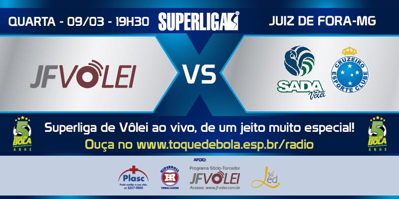 JF Vôlei recebe o forte Sada Cruzeiro nesta quarta às 20h. Toque transmite