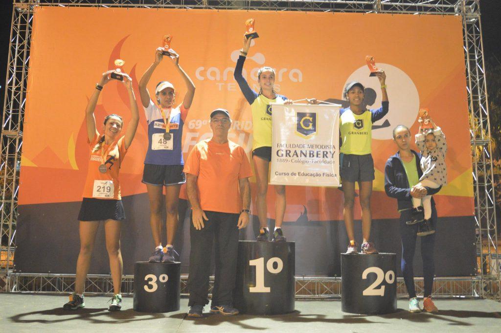 Corrida da Fogueira 2016: pódio feminino