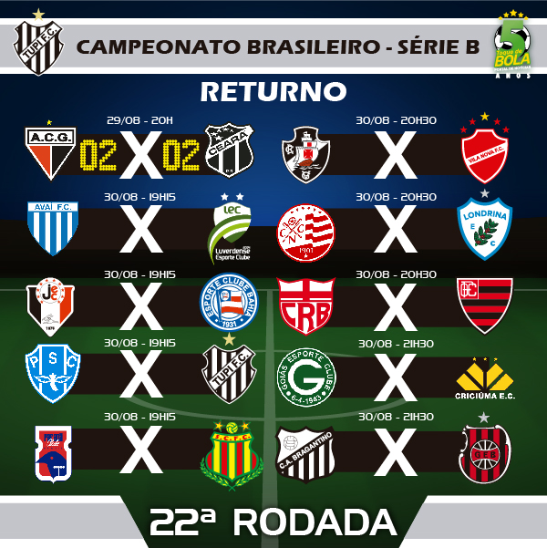 22A RODADA_TUPI CAMPEONATO BRASILEIRO SERIE B INSTAGRAM