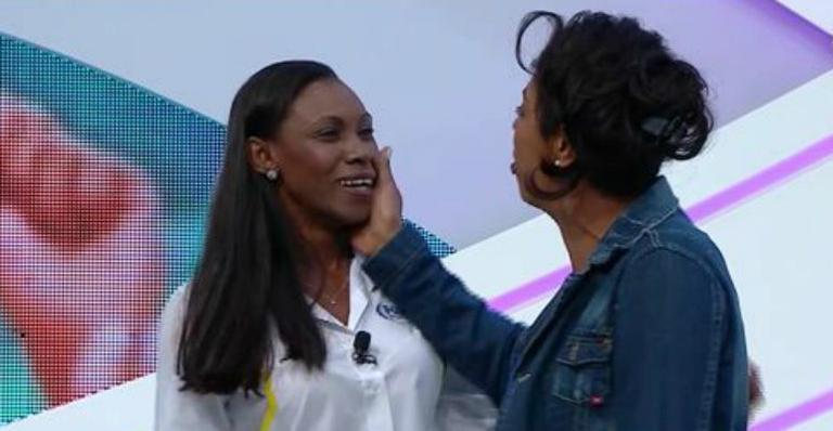Mireya e Márcia Fu: o reencontro em clima amistoso na Fox Sports. Cubana e brasileira se estranharam muito em jogo pelos Jogos Olímpicos de 1996