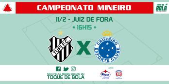 Tupi repete escalação do empate. Cruzeiro traz titulares. Siga nas redes sociais do Toque de Bola