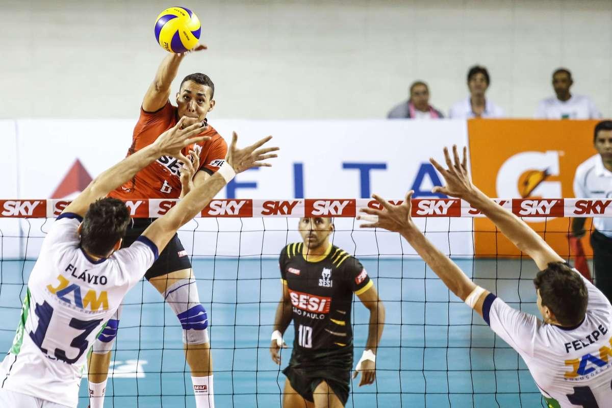 Quartas-de-final da Superliga prosseguem nesta quarta. Sesi, Sada Cruzeiro e Brasil Kirin largam na frente