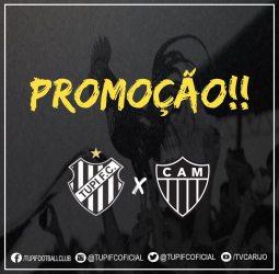 Veja como é a promoção carijó envolvendo ingresso de Tupi x Atlético