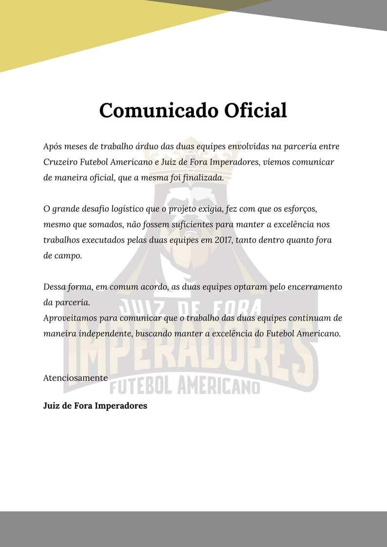 eca12d3b7b Acabou! Imperadores e Cruzeiro desfazem parceria no futebol ...