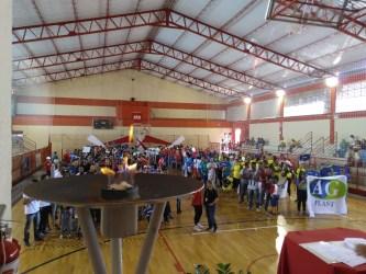 Trabalhadores-atletas participam da abertura dos Jogos Sesi 2018 no Clube do Trabalhador