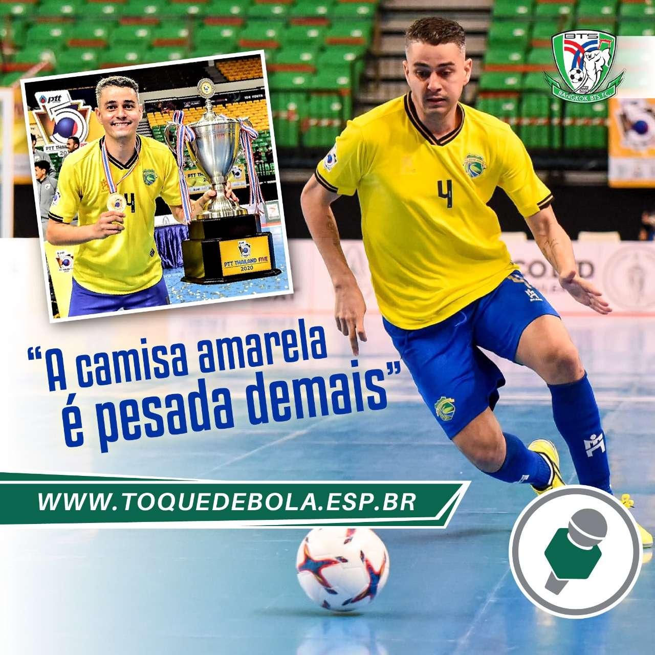 """Pavão levanta a taça pelo All Star Brasil: """"A camisa amarela é pesada demais no futsal"""""""