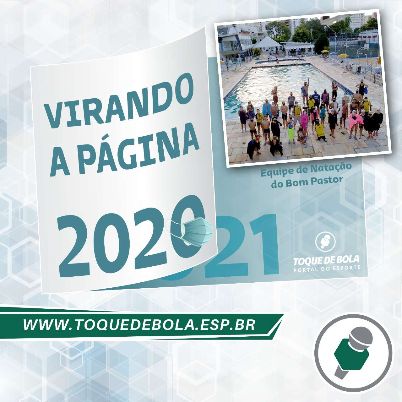 Natação do Bom Pastor: paciência e foco são estratégias para 2021