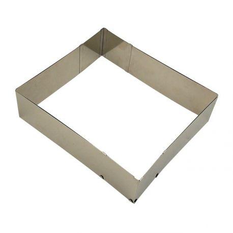adjustable rectangular cake ring stadter 25 50cm