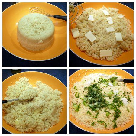 semoule de couscous au cuiseur a riz tupperware