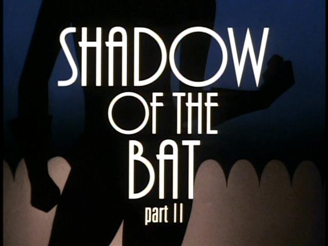 Batman The Animated Series Rewatch Shadow Of The Bat Part - Superhero logos turned into oddly satisfying line animations