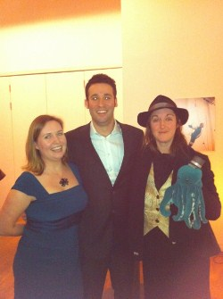 Award Directors Anne Perry and Jared Shurin with author Frances Hardinge
