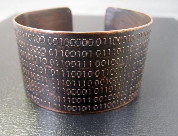 Binary Code Cuff by Karla Wheeler Design
