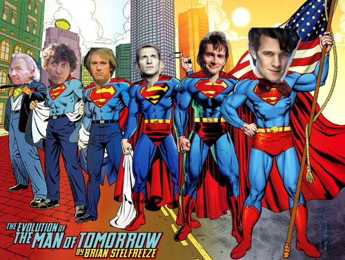 Doctor Who Superman Man of Steel TARDIS Same Character