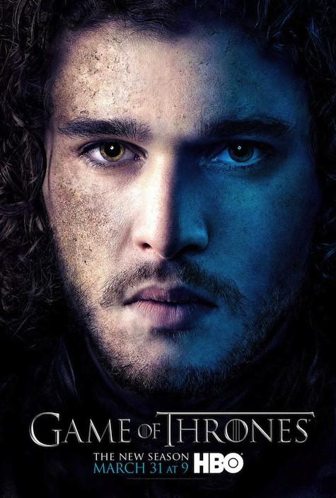 Game of Thrones season 3 character posters Jon Snow