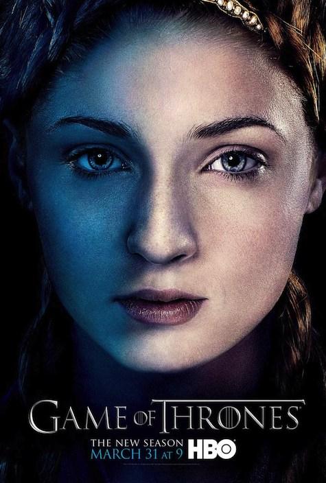 Game of Thrones season 3 character posters Sansa