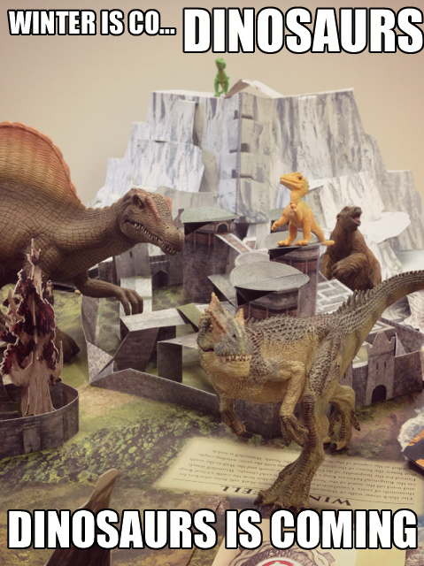 Three Very Lucky Winners Will Receive A Copy Of Game Thrones Pop Up Guide To Westeros Dinosaurs Not Included But You Should Go Out
