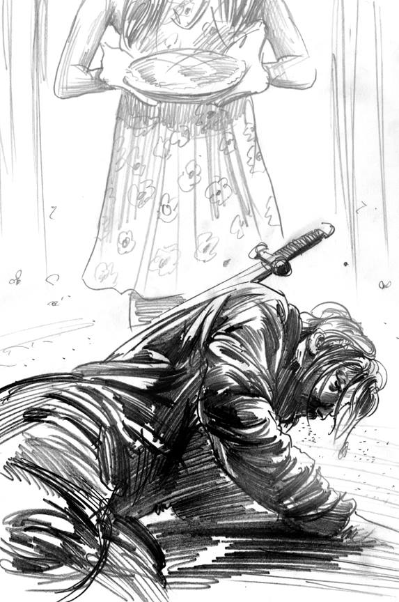 Greg Ruth: Fables cover in progress.