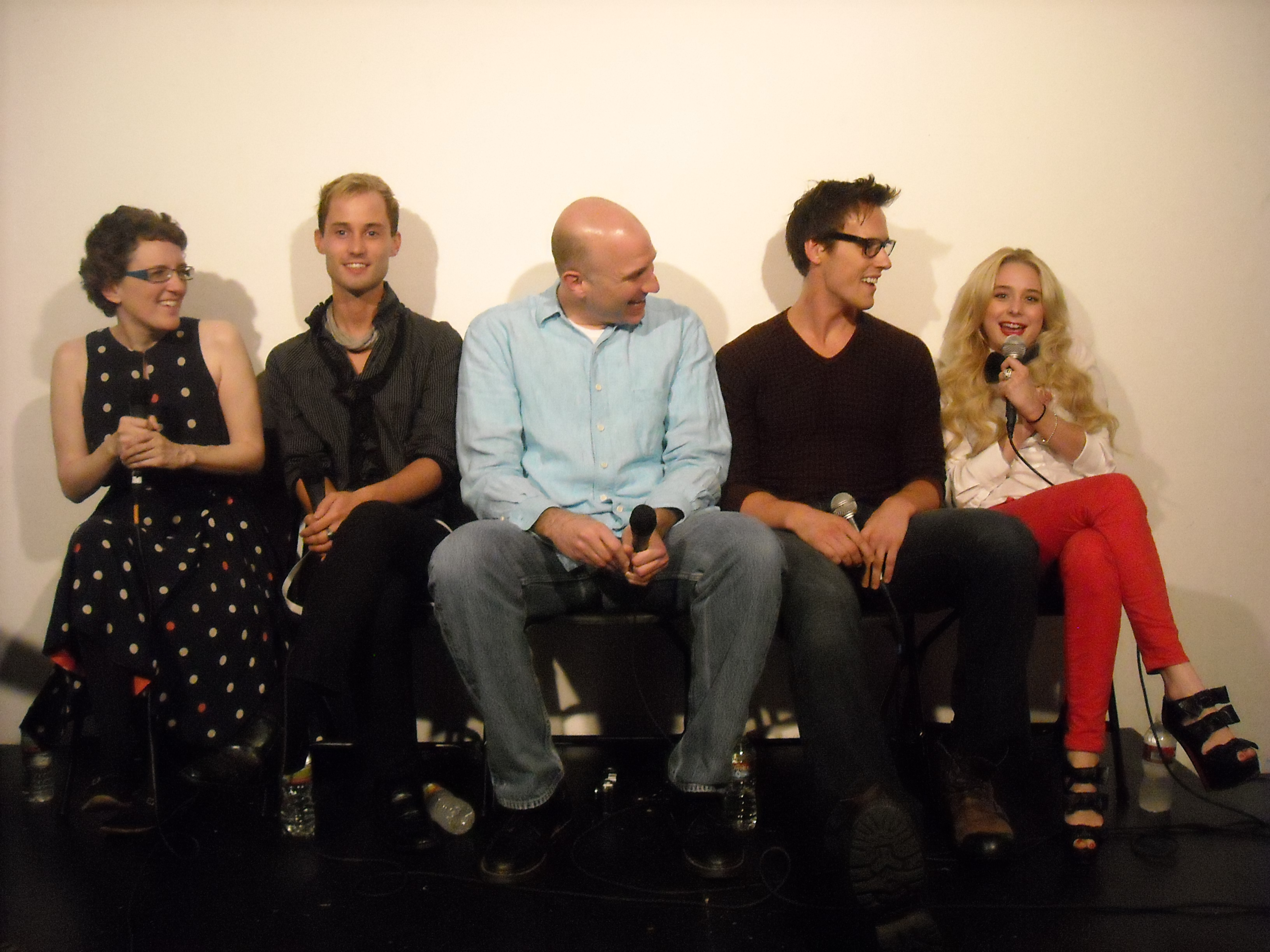Jane Espenson, Cheeks, Jeff Greenstein, Sean Hemeon, and Alessandra Torresani at the Husbands Q&A