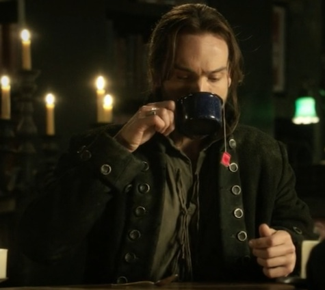 Ichabod having a spot of tea