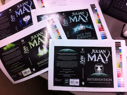 Julian May Galactic Milieu series sherpa proofs of covers
