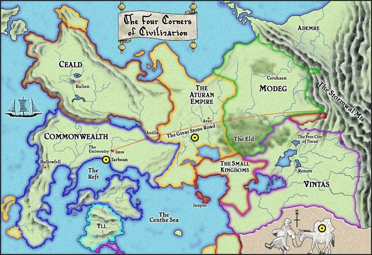 Kingkiller Chronicles map