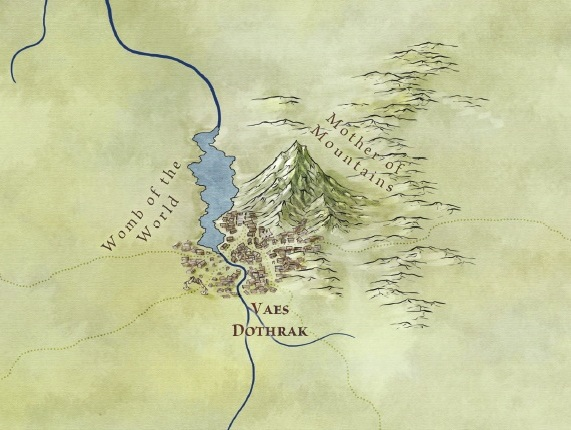 New Song of Ice and Fire map of Vaes Dothrak from Bantam Books' forthcoming The Lands of Ice and Fire