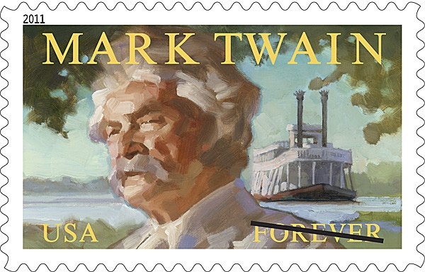 Mark Twain illustrated by Gregory Manchess. Click to enlarge.
