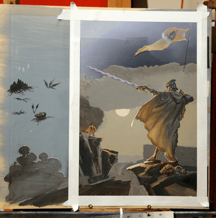 Michael Whelan Way of Kings in progress