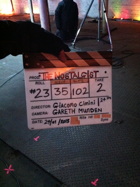 The Nostalgist Daniel H Wilson on set