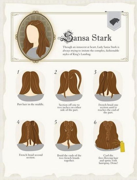 Game of Thrones hairstyles how-to Sansa
