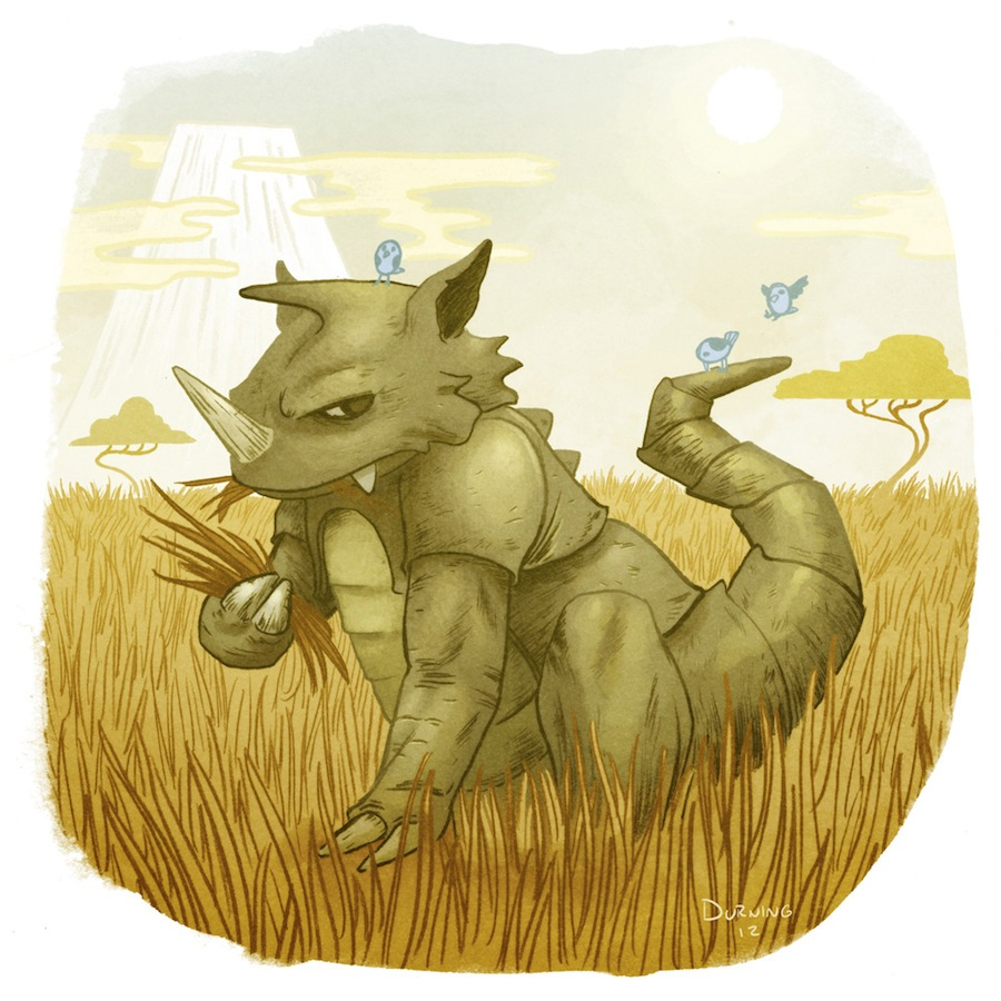 Pokemon art. Rhydon by Tim Durning