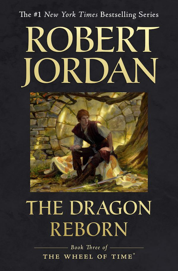 Wheel of Time trade paperback cover of Dragon Reborn