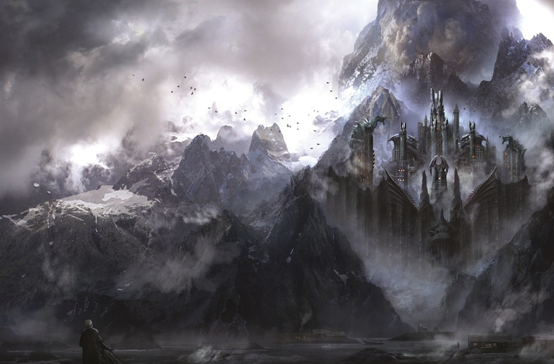 The World of Ice & Fire book art Dragonstone Philip Straub George R.R. Martin