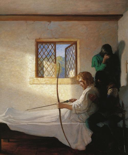Robin Hood, N.C. Wyeth, The Passing of Robin Hood