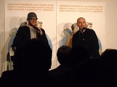Damon Lindelof and Brian K. Vaughan at Meltdown Comics