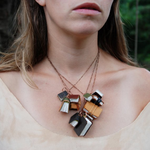 Autumnal Book Necklace by The Black Spot