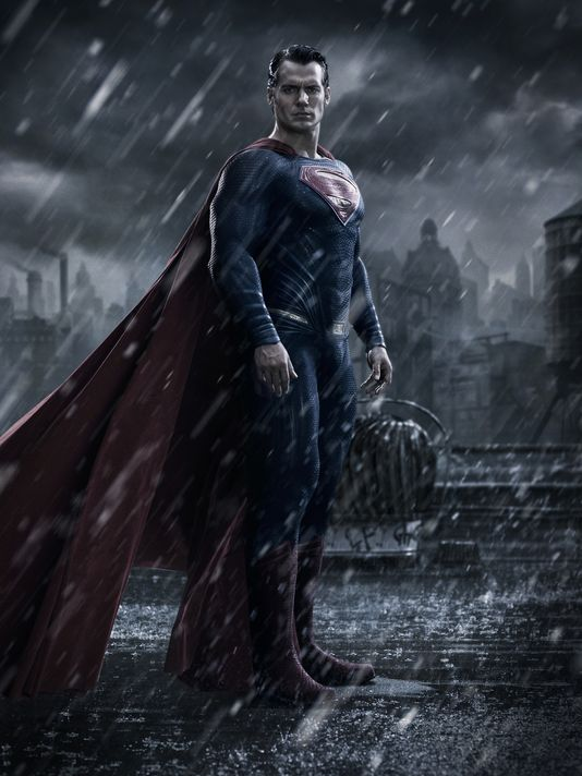 first look Superman Henry Cavill Batman v Superman: Dawn of Justice sad Batman Ben Affleck photo