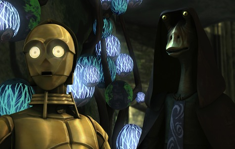 Star Wars The Clone Wars, jar jar, c-3po