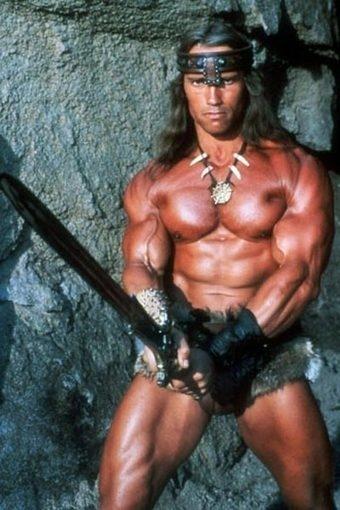 Conan's Freudian sword pose