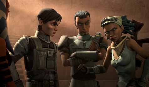 Star Wars The Clone Wars, The Soft War, Lux, Saw, Steela