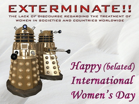 Doctor Who International Women's Day card