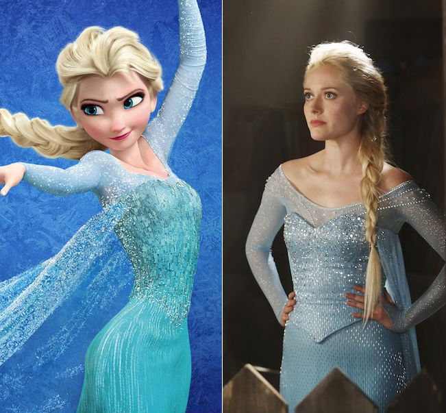 first look Elsa Frozen costume Once Upon a Time compare costumes