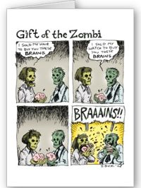 Gift of the Zombi card