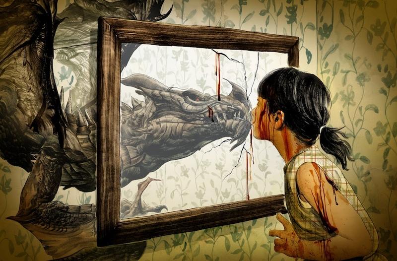 Greg Ruth illustration Lavie Tidhar Tor.com story Dragonkin
