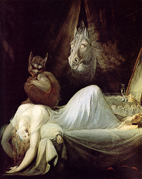 The Nightmare (second version, c. 1790) by Henry Fuseli